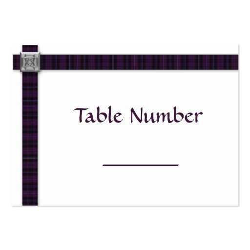 100 Purple Scottish Tartan Place Settings Cards Business Card Templates