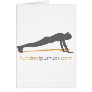 100 Push-Ups Card