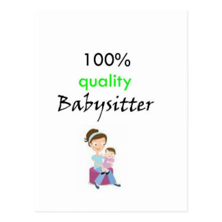 100% quality babysitter postcard