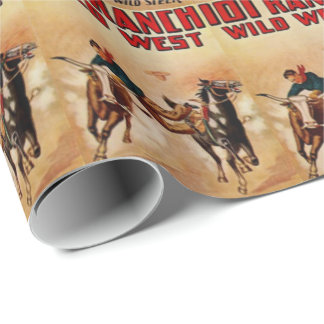 100 Ranch Wild West Rodeo Poster Print Wrapping Paper