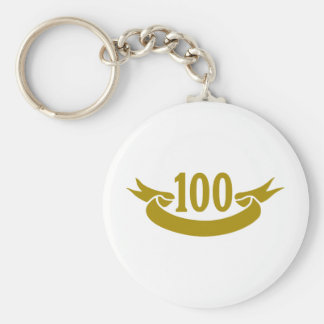 100-real-tape basic round button keychain