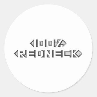 100% Redneck Round Sticker