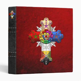 [100] Rosy Cross (Rose Croix) Vinyl Binders