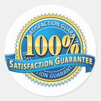 100% Satisfaction Guarantee Stickers