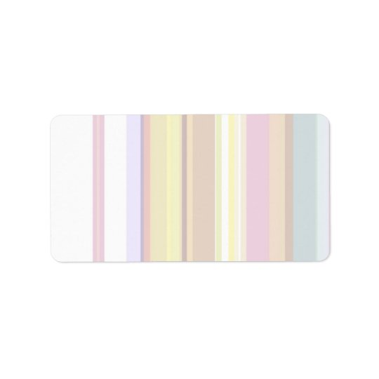 100 Slim : Artistic Soft Colours Patterns Label