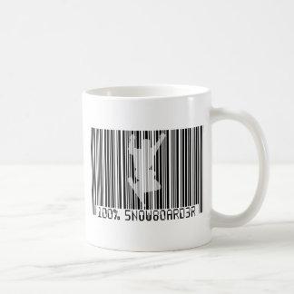 100% SNOWBOARDER 2 black barcode Coffee Mug