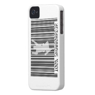 100% SNOWBOARDER 2 black barcode iPhone 4 Case-Mate Cases