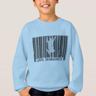 100% SNOWBOARDER 2 black barcode Sweatshirt