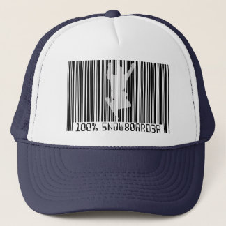 100% SNOWBOARDER 2 black barcode Trucker Hat