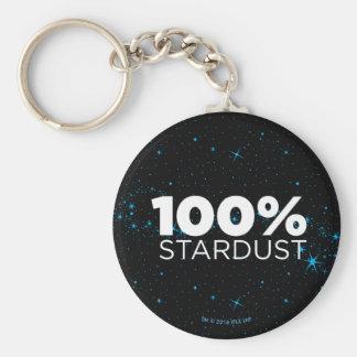 100% Stardust Basic Round Button Keychain