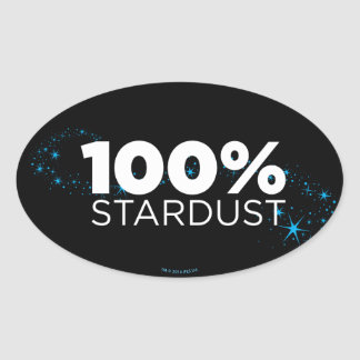 100% Stardust Oval Sticker
