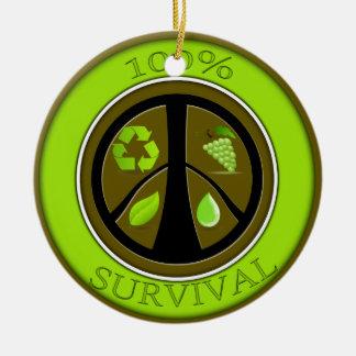 100% Survival Prepper Eco Design Ceramic Ornament