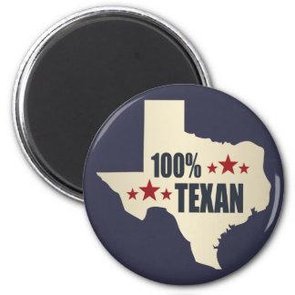 100% Texan 2 Inch Round Magnet