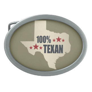 100% Texan Belt Buckle