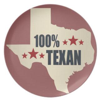 100% Texan Plates