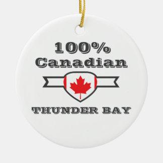 100% Thunder Bay Ceramic Ornament