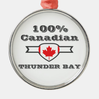 100% Thunder Bay Metal Ornament