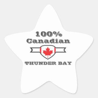 100% Thunder Bay Star Sticker