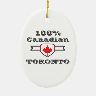 100% Toronto Ceramic Ornament