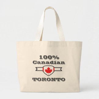 100% Toronto Large Tote Bag