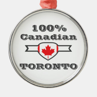 100% Toronto Metal Ornament