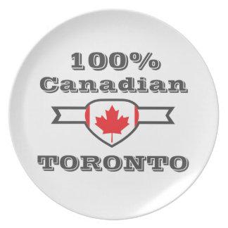 100% Toronto Plate