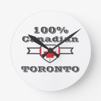 100% Toronto Round Clock