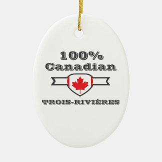 100% Trois-Rivières Ceramic Ornament