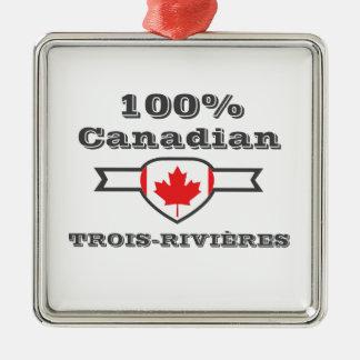 100% Trois-Rivières Metal Ornament