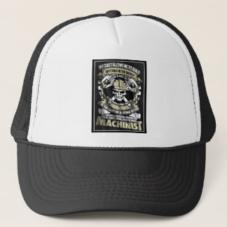 100%  True Old School Machinist Patch Hat