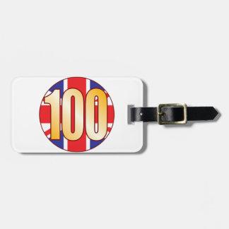 100 UK Gold Bag Tag