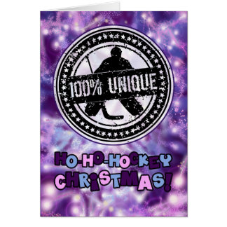 100% Unique Hockey Goalie Christmas Card