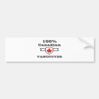 100% Vancouver Bumper Sticker