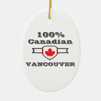 100% Vancouver Ceramic Ornament