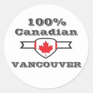 100% Vancouver Classic Round Sticker