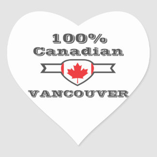 100% Vancouver Heart Sticker