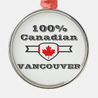 100% Vancouver Metal Ornament