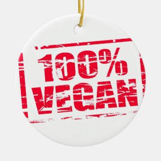 100% vegan ceramic ornament