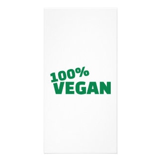 100% Vegan Photo Card