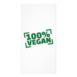 100% Vegan Photo Card