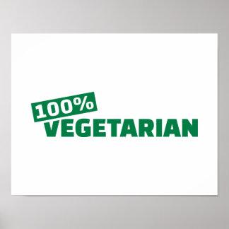 100% Vegetarian Poster