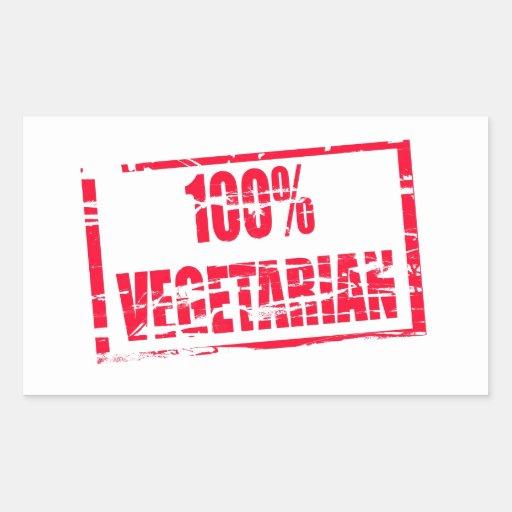 100% vegetarian sticker