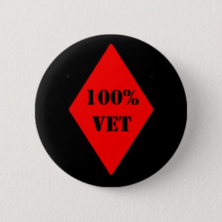 100% Vet Black and Red Button