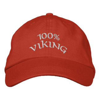 100% viking embroidered hat