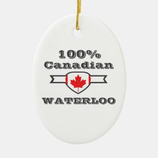 100% Waterloo Ceramic Ornament