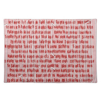 100 Ways to Say I Love You Placemat