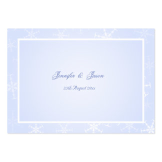 100 Wedding Enclosure Cards Winter Snowflakes Business Cards