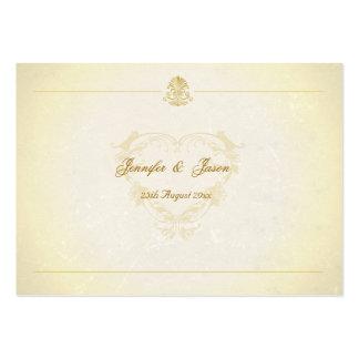 100 Wedding Enclosures Vintage Parchment Paper Business Cards