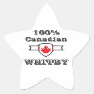 100% Whitby Star Sticker