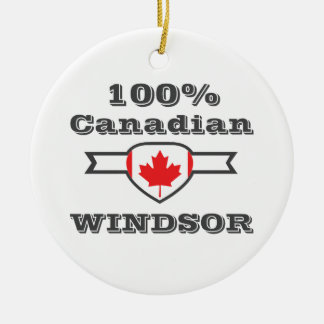 100% Windsor Ceramic Ornament